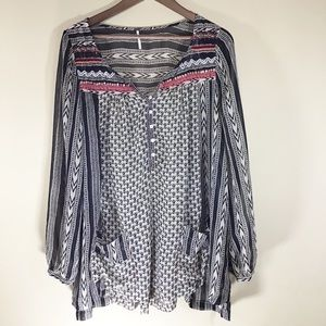 FREE PEOPLE Feather In The Wind Tunic Top